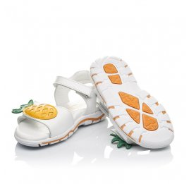 Детские босоніжки Woopy Orthopedic белые для девочек натуральная кожа размер 29-32 (4188) Фото 2