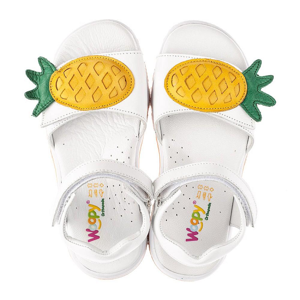 Детские босоножки Woopy Orthopedic белые для девочек натуральная кожа размер 29-33 (4188) Фото 5