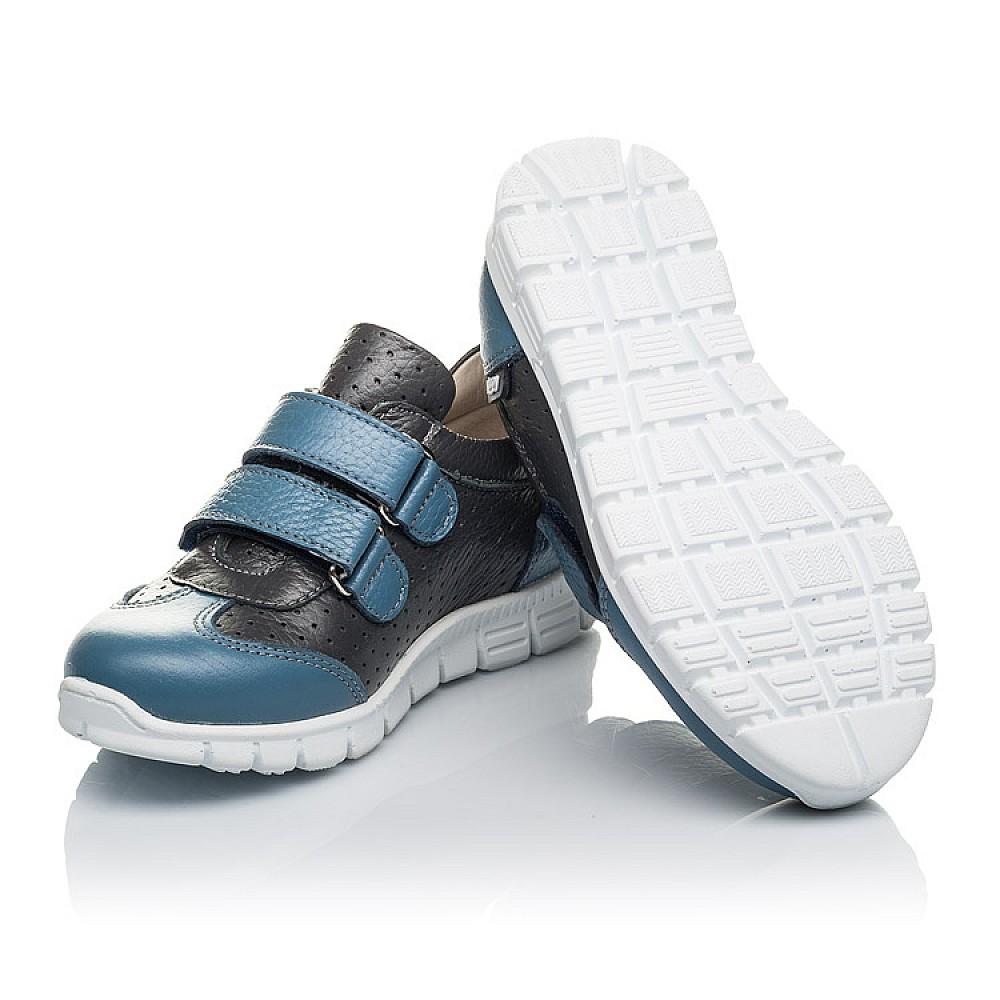 Детские кроссовки Woopy Orthopedic серые, синие для мальчиков натуральная кожа размер 20-33 (4190) Фото 2