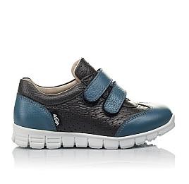 Детские кроссовки Woopy Orthopedic серые, синие для мальчиков натуральная кожа размер 20-33 (4190) Фото 4