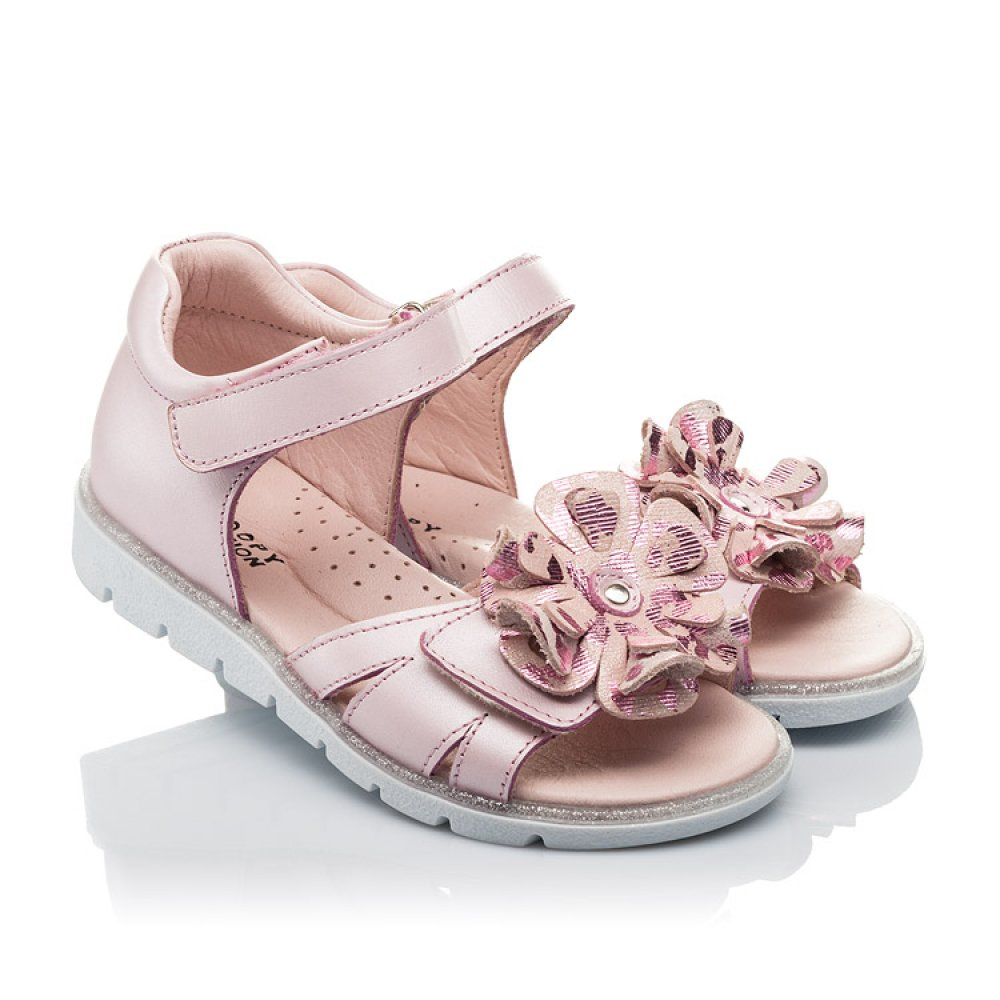 Детские босоножки Woopy Orthopedic розовые для девочек натуральная кожа размер 26-38 (4191) Фото 1
