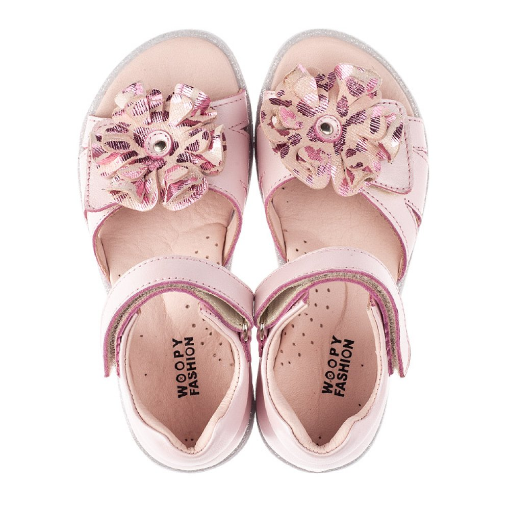 Детские босоножки Woopy Orthopedic розовые для девочек натуральная кожа размер 26-38 (4191) Фото 2