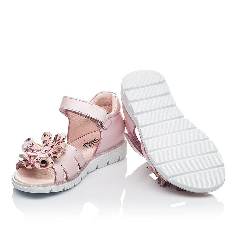 Детские босоножки Woopy Orthopedic розовые для девочек натуральная кожа размер 26-38 (4191) Фото 5