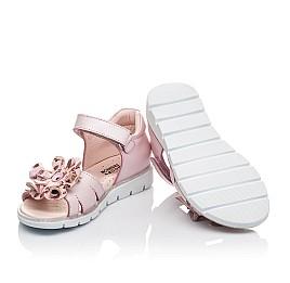 Детские босоніжки Woopy Orthopedic розовые для девочек натуральная кожа размер 27-38 (4191) Фото 5