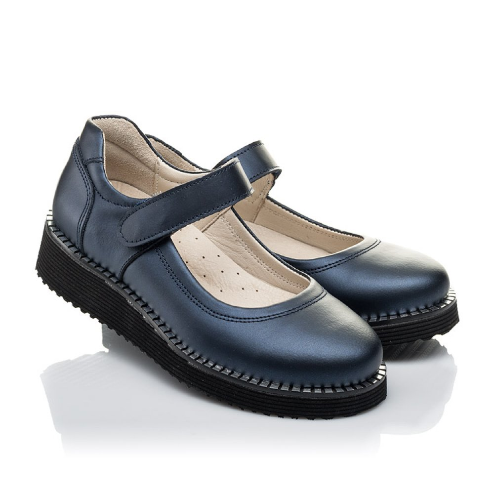 Детские туфли Woopy Orthopedic синие для девочек натуральная кожа размер 31-38 (4193) Фото 1
