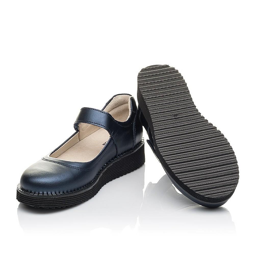 Детские туфли Woopy Orthopedic синие для девочек натуральная кожа размер 31-38 (4193) Фото 2