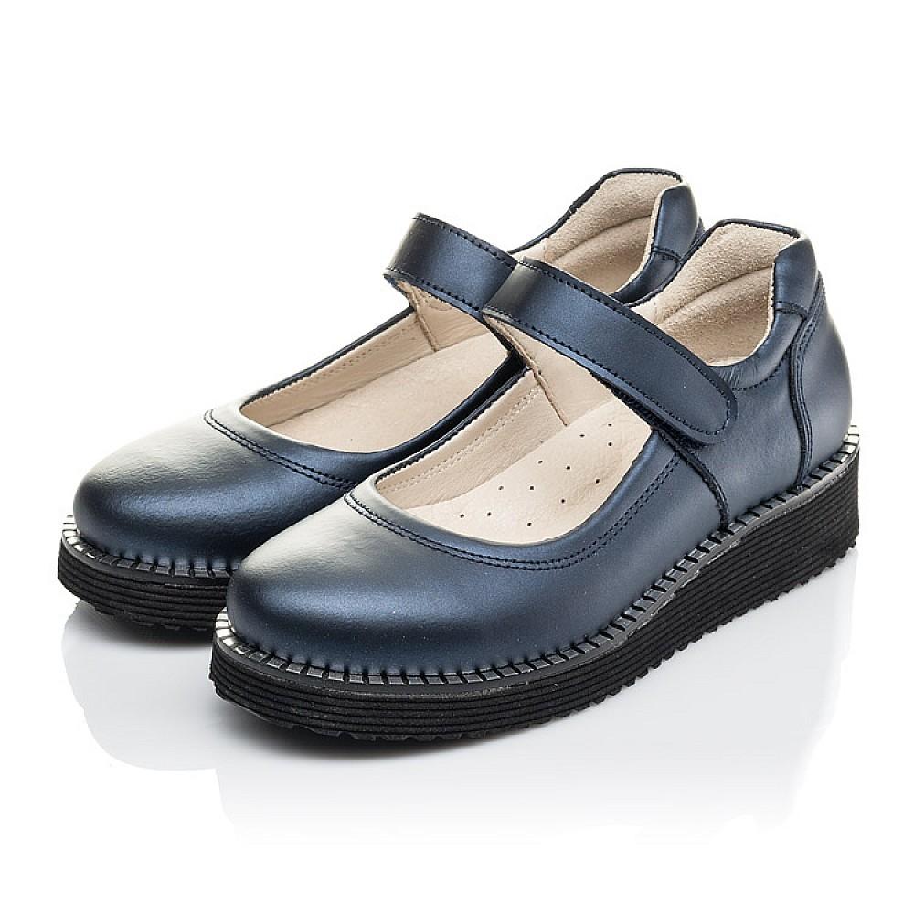 Детские туфли Woopy Orthopedic синие для девочек натуральная кожа размер 31-38 (4193) Фото 3