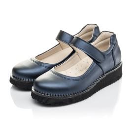 Детские туфли Woopy Orthopedic синие для девочек натуральная кожа размер 31-37 (4193) Фото 3
