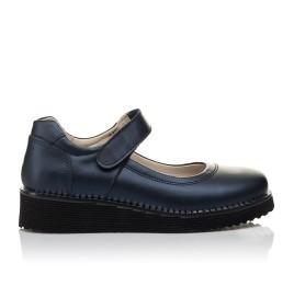 Детские туфли Woopy Orthopedic синие для девочек натуральная кожа размер 31-38 (4193) Фото 4