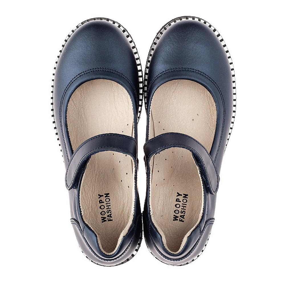 Детские туфли Woopy Orthopedic синие для девочек натуральная кожа размер 31-38 (4193) Фото 5