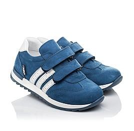 Детские кроссовки Woopy Orthopedic голубые для мальчиков натуральный нубук размер 19-35 (4194) Фото 1