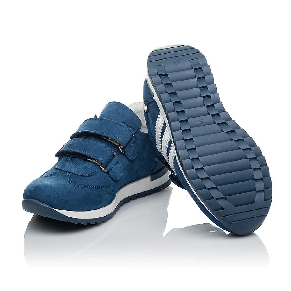 Детские кроссовки Woopy Orthopedic голубые для мальчиков натуральный нубук размер 19-35 (4194) Фото 2