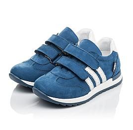 Детские кроссовки Woopy Orthopedic голубые для мальчиков натуральный нубук размер 19-35 (4194) Фото 3