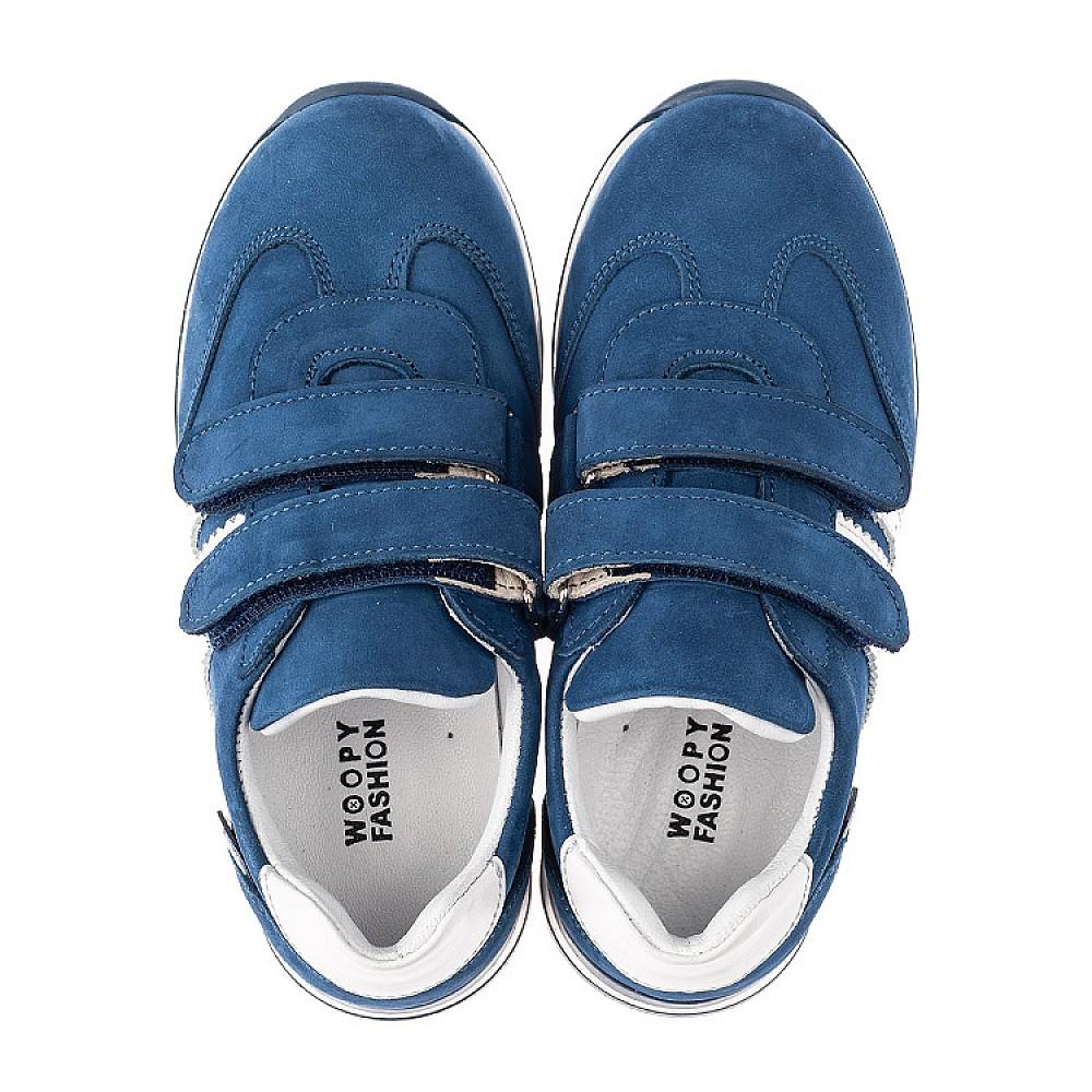 Детские кроссовки Woopy Orthopedic голубые для мальчиков натуральный нубук размер 19-35 (4194) Фото 5