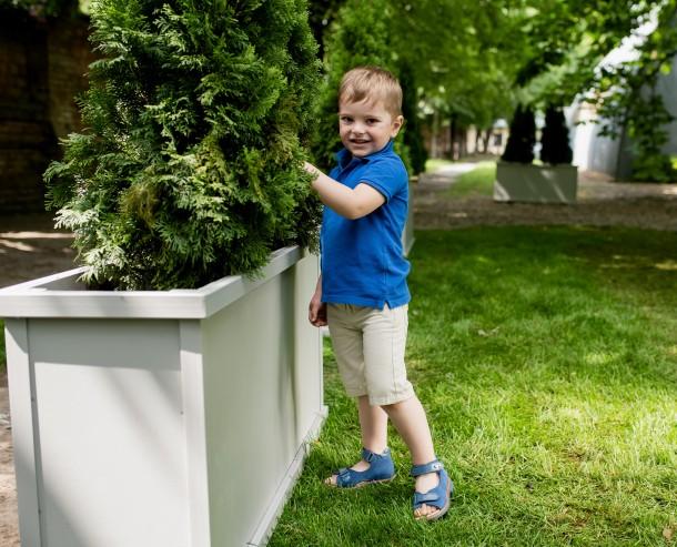 Мальчик обут в детские босоножки Woopy Orthopedic голубые (4195) Фото 1
