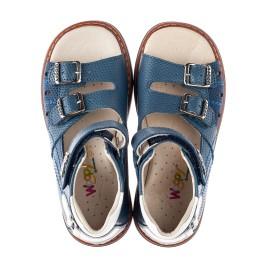 Детские босоножки Woopy Orthopedic голубые для мальчиков натуральная кожа размер 30-30 (4197) Фото 5