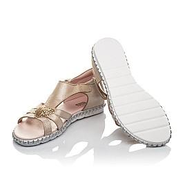 Детские босоніжки Woopy Orthopedic золотые для девочек натуральный нубук размер 24-26 (4199) Фото 2
