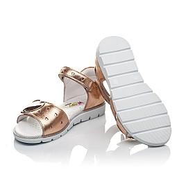 Детские босоніжки Woopy Orthopedic золотые для девочек натуральная кожа размер 26-26 (4200) Фото 2