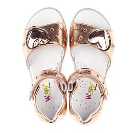 Детские босоніжки Woopy Orthopedic золотые для девочек натуральная кожа размер 26-26 (4200) Фото 7