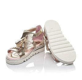 Детские босоніжки Woopy Orthopedic золотые для девочек натуральная кожа размер 26-29 (4201) Фото 2