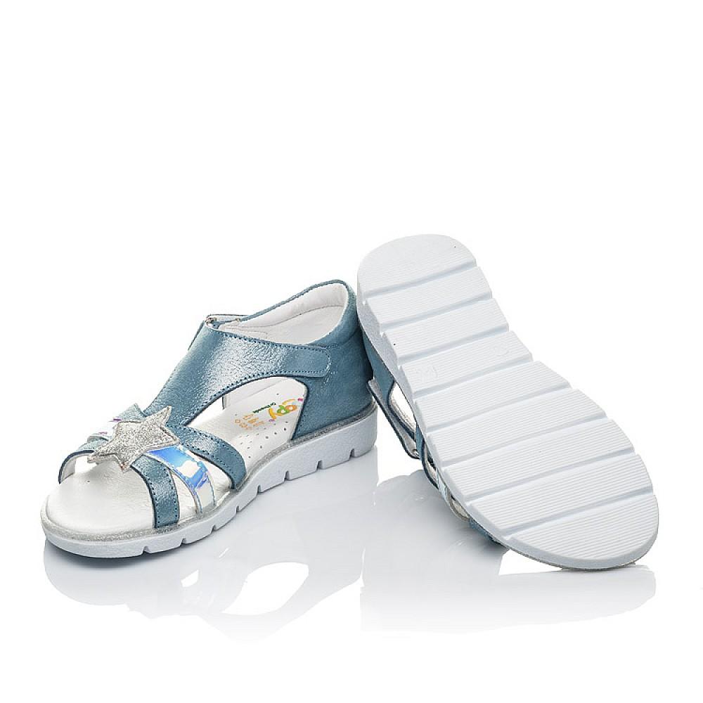 Детские босоножки Woopy Orthopedic голубые для девочек натуральный нубук размер 29-38 (4203) Фото 2