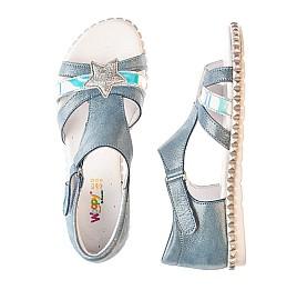 Детские босоножки Woopy Orthopedic голубые для девочек натуральный нубук размер 29-35 (4203) Фото 6