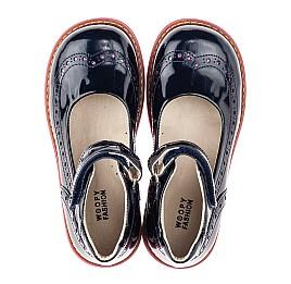 Детские туфли Woopy Orthopedic темно-синие для девочек натуральная лаковая кожа размер 28-34 (4205) Фото 5