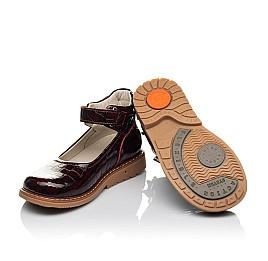 Детские туфли Woopy Orthopedic бордовые для девочек натуральная лаковая кожа размер 29-35 (4206) Фото 2