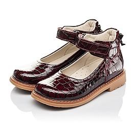 Детские туфли Woopy Orthopedic бордовые для девочек натуральная лаковая кожа размер 29-35 (4206) Фото 3