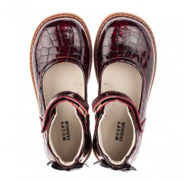 Детские туфли Woopy Orthopedic бордовые для девочек натуральная лаковая кожа размер 29-35 (4206) Фото 5