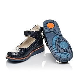 Детские туфли Woopy Orthopedic синие для девочек натуральная лаковая кожа размер 29-35 (4207) Фото 2