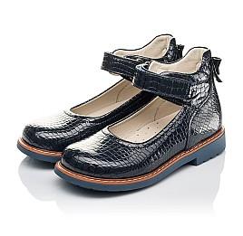 Детские туфли Woopy Orthopedic синие для девочек натуральная лаковая кожа размер 29-35 (4207) Фото 3