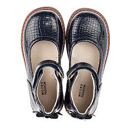 Детские туфли Woopy Orthopedic синие для девочек натуральная лаковая кожа размер 29-35 (4207) Фото 5