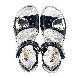 Детские босоніжки Woopy Orthopedic черные для девочек натуральная лаковая кожа размер 31-37 (4208) Фото 6