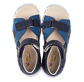 Детские босоножки Woopy Orthopedic синие для мальчиков натуральный нубук размер 21-36 (4209) Фото 5