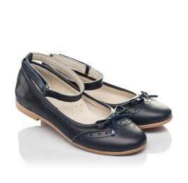 62b4fa84e Детские туфли Woopy Orthopedic синие для девочек натуральная кожа размер 32-39  (4213)
