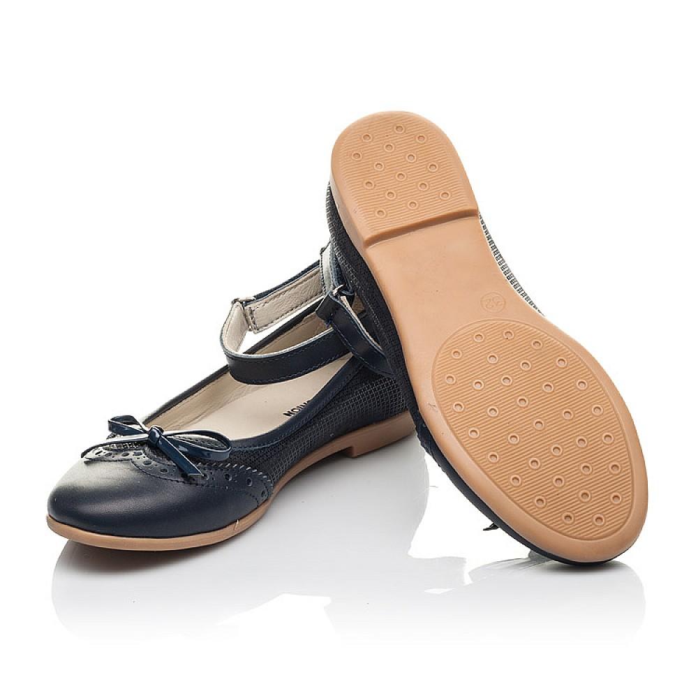 Детские туфли Woopy Orthopedic синие для девочек натуральная кожа размер 32-39 (4213) Фото 2