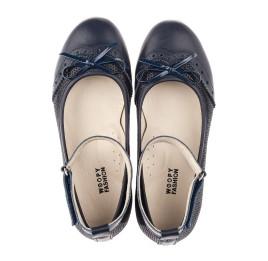 Детские туфли Woopy Orthopedic синие для девочек натуральная кожа размер 32-39 (4213) Фото 5
