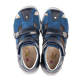Детские закрытые босоножки Woopy Orthopedic синие для мальчиков натуральный нубук размер 21-32 (4214) Фото 5