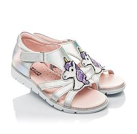 Детские босоніжки Woopy Orthopedic серебряные для девочек натуральная кожа размер 29-29 (4218) Фото 1