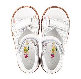 Детские босоножки Woopy Orthopedic белые для девочек натуральная кожа размер 19-23 (4219) Фото 5