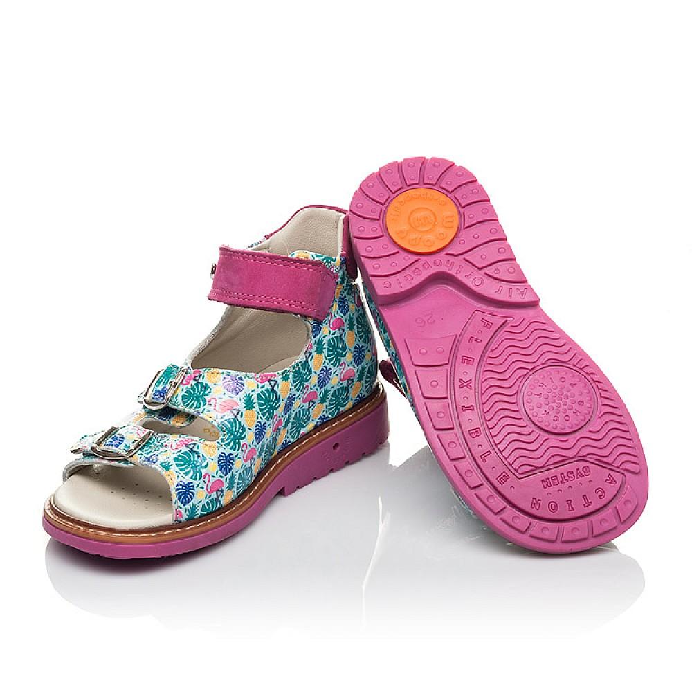 Детские босоножки Woopy Orthopedic разноцветные для девочек натуральная лаковая кожа размер 21-33 (4220) Фото 2