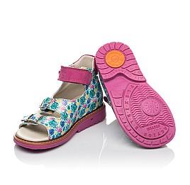 Детские босоножки Woopy Orthopedic разноцветные для девочек натуральная лаковая кожа размер 21-30 (4220) Фото 2