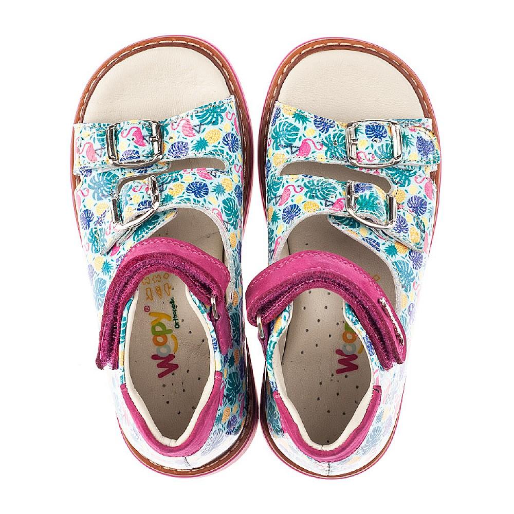 Детские босоножки Woopy Orthopedic разноцветные для девочек натуральная лаковая кожа размер 21-33 (4220) Фото 5