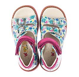 Детские босоножки Woopy Orthopedic разноцветные для девочек натуральная лаковая кожа размер 21-30 (4220) Фото 5