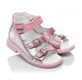 Детские босоножки Woopy Orthopedic розовые для девочек натуральная кожа размер 28-30 (4222) Фото 1