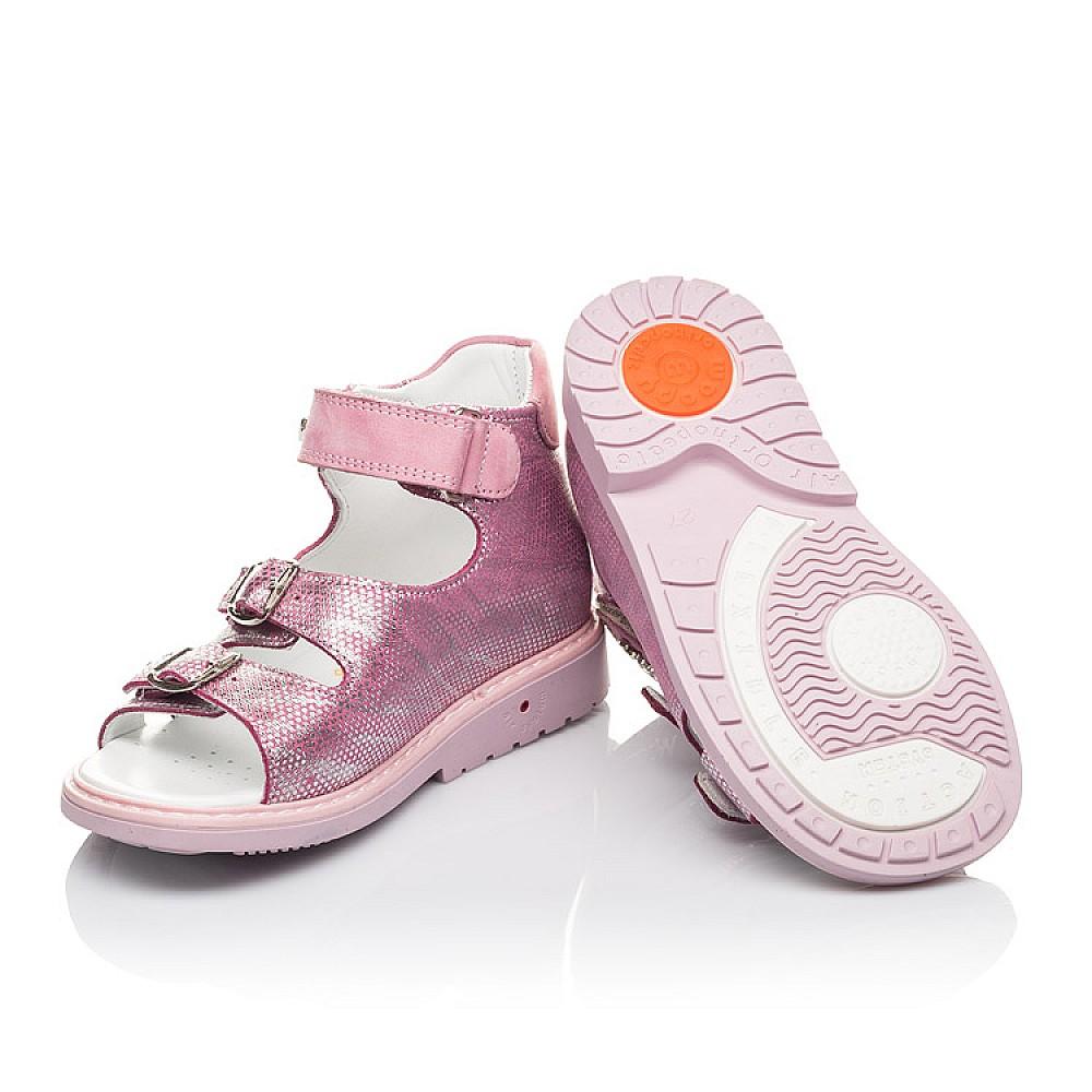 Детские босоножки Woopy Orthopedic розовые для девочек натуральная кожа размер 26-30 (4222) Фото 2