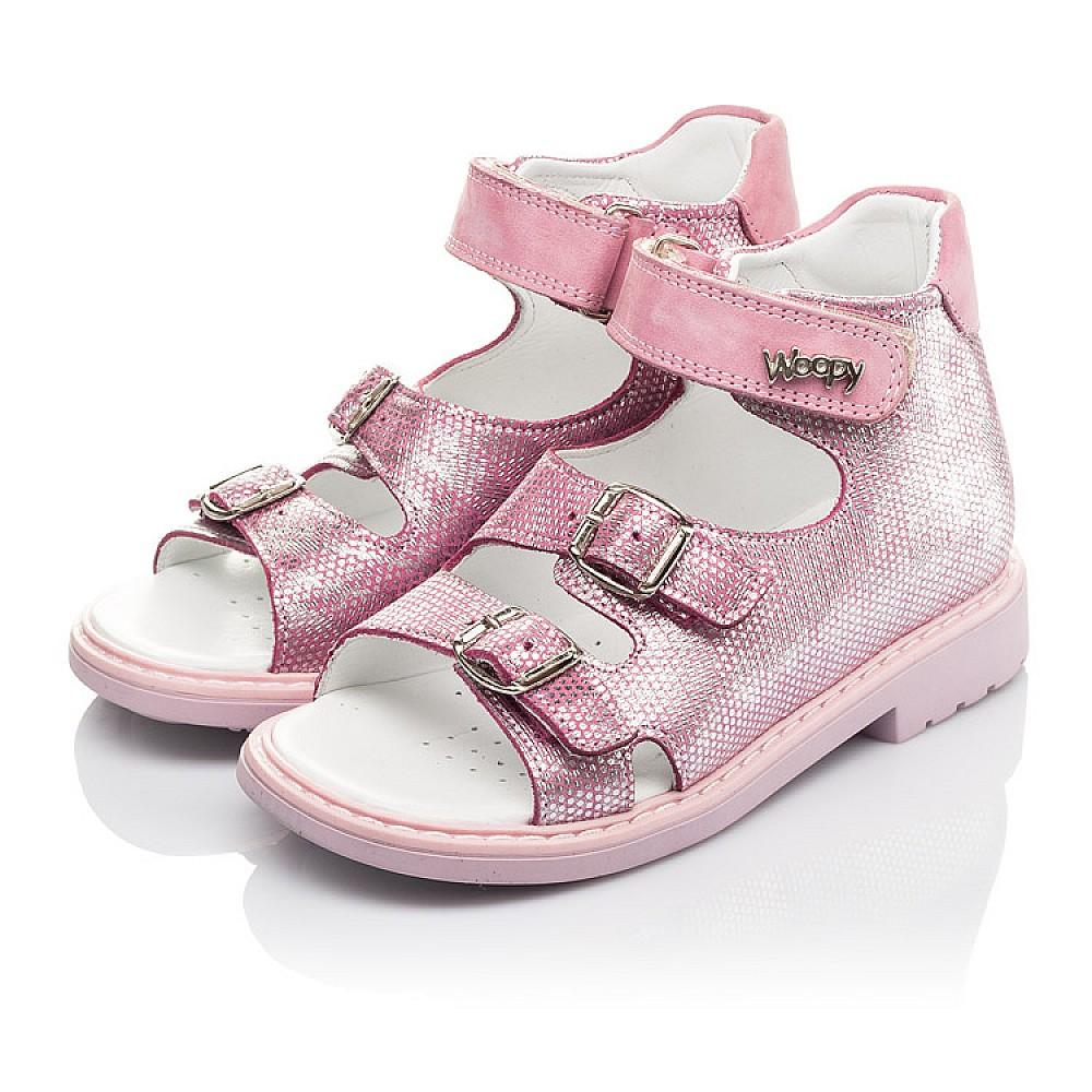 Детские босоножки Woopy Orthopedic розовые для девочек натуральная кожа размер 26-30 (4222) Фото 3