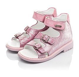 Детские босоножки Woopy Orthopedic розовые для девочек натуральная кожа размер 28-30 (4222) Фото 3