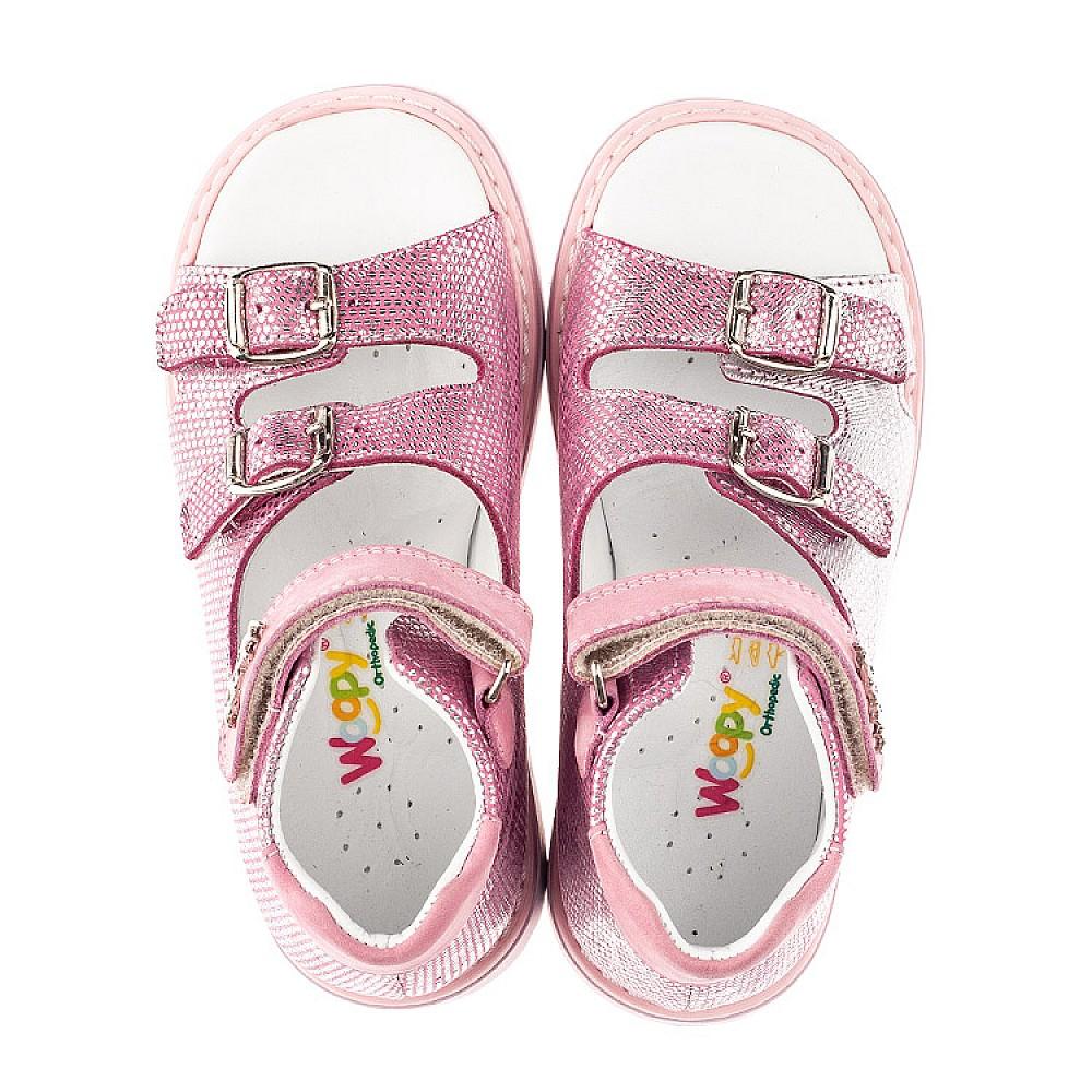 Детские босоножки Woopy Orthopedic розовые для девочек натуральная кожа размер 26-30 (4222) Фото 5